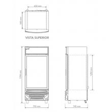 Congelador CV 15 Dimensiones