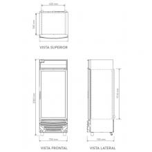 Congelador CV 18 Dimensiones