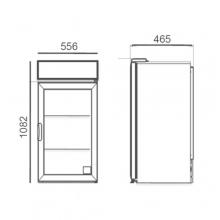 Dimensiones refrigerador NVA100