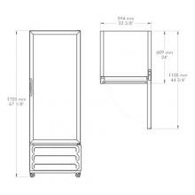Refrigerador-FORTE-V12 Dimensiones