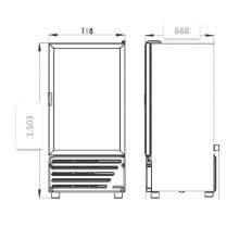Dimensiones Refrigerador VR 11