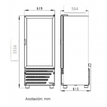 Dimensiones Refrigerador VR9