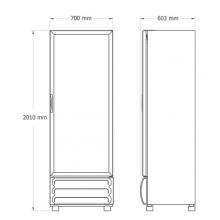 Refrigerador-FORTE-V17 Dimensiones