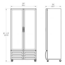 Refrigerador-FORTE-V25 Dimensiones
