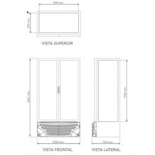Refrigerador-G3-26 Dimensiones