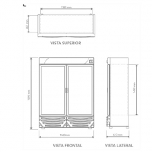 Refrigerador-NVA-900 Dimensiones