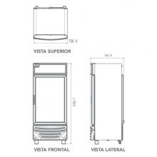 Refrigerador RV15 - Dimensiones