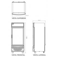 Refrigerador RV18 Dimensiones